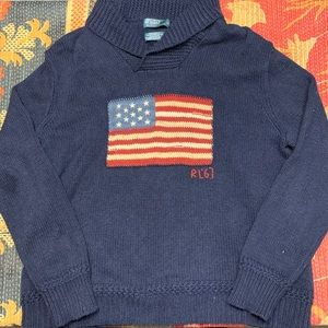 Polo Ralph Lauren RARE American Flag Knit Sweater